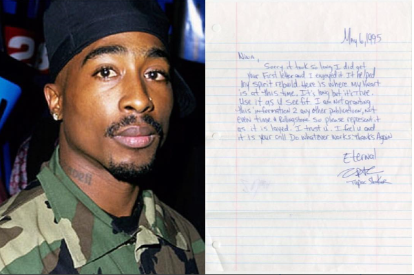 SERIOUSLY: Handwritten Letter Tupac Shakur Sent From Prison Sold For More $170,000