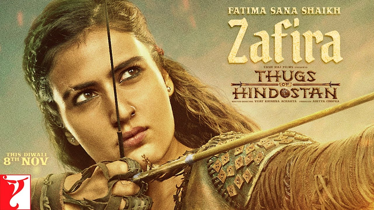 Zafira aka Fatima Sana Shaikh's look from 'Thugs Of Hindostan' unveiled—Watch motion poster