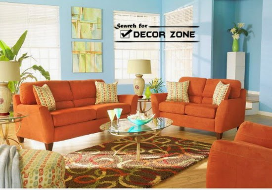 Designing And Decorating The Orange Living Room For The: 25 Living Room Decorating Ideas In Bright Colors