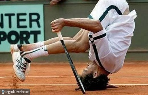 photo drole tennis