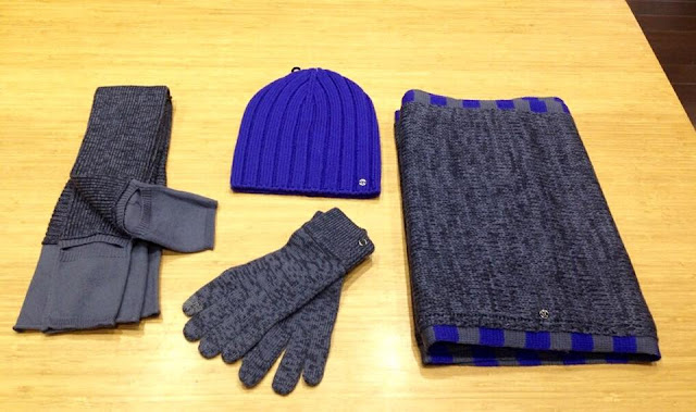 lululemon blissed out gloves scarf legwarmers toque