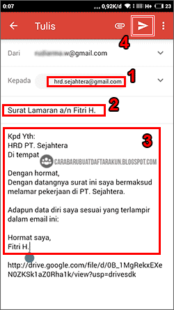 Contoh Lamaran Dan Cv Lewat Email