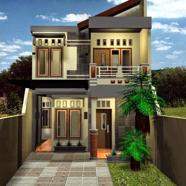 Desain Rumah Kecil Minimalis 2 lantai