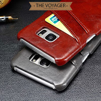 casing kulit leather case back cover with card slot Samsung Galaxy S7 edge sapi asli vintage original premium unik keren
