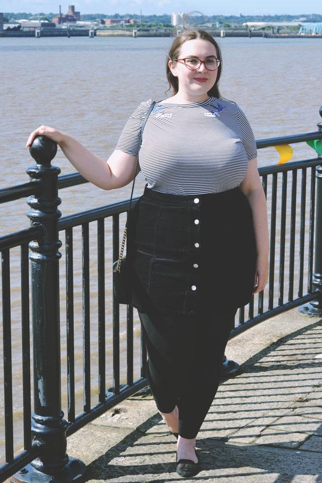Plus size striped t shirt