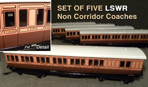 British Model Railway Club Of Montreal A Rake Of Lswr Coaches