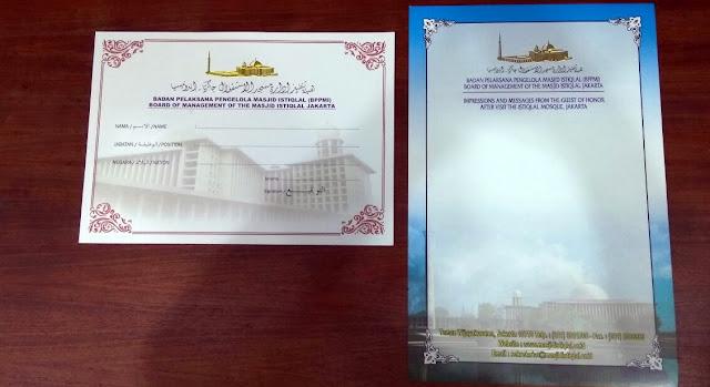 2 Ini Lembar Kertas Ini Akan Diisi Raja Salman Usai Shalat di Masjid Istiqlal