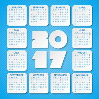 2017カレンダー無料テンプレート223