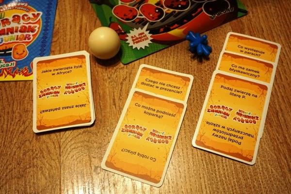 gorący ziemniak junior, dla dzieci, pytania