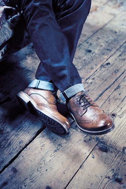 Zapatos Oxford en marrón para hombre