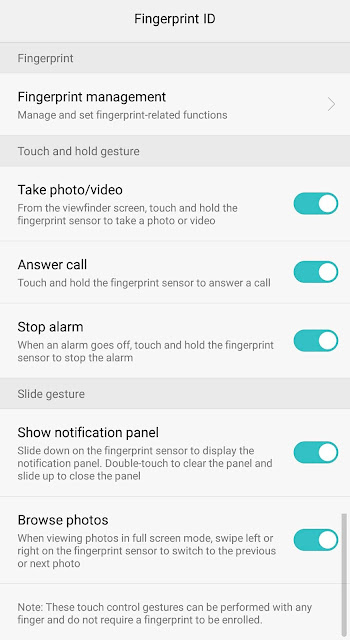finger print Honor 5C