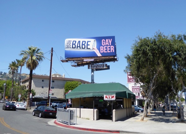 Gay Beer Babe Rosé billboard