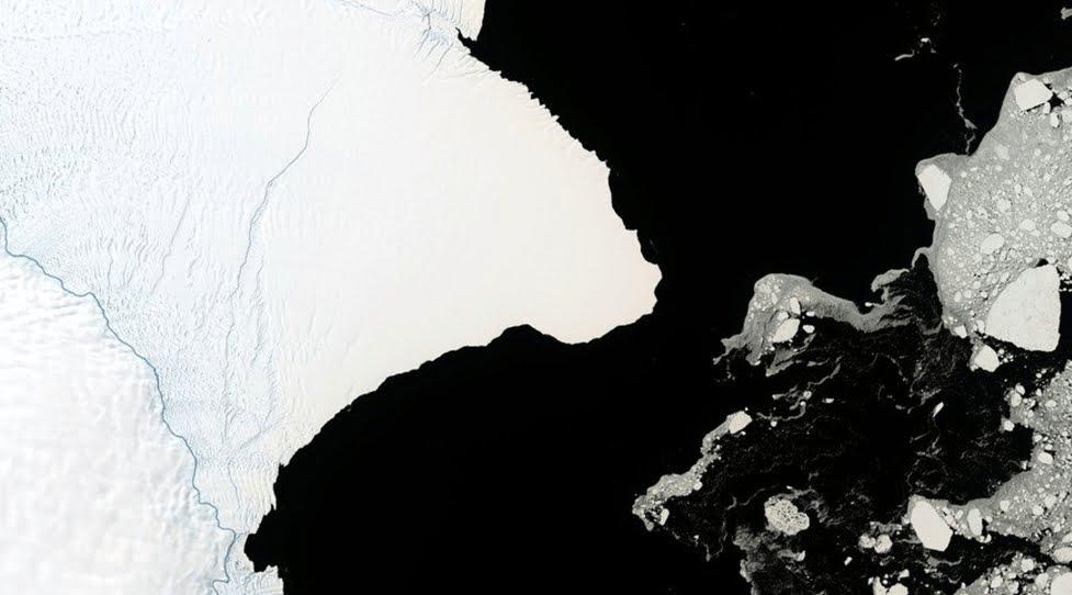 Enorme Iceberg grande 2 volte New York si sta staccando in Antartide.