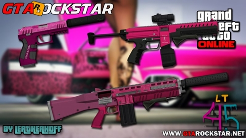 Pink Weapons Pack para GTA V PC