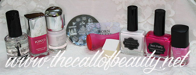 Pink Snow Nail Art