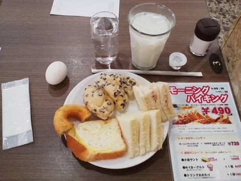 パン食べ放題モーニングバイキング¥490 シャポーブランメイチカ店