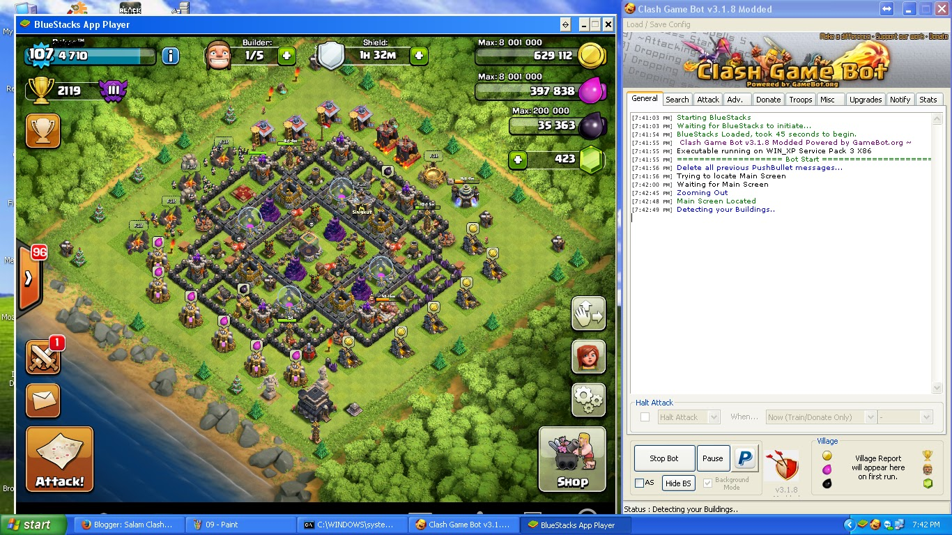 Tutorial Cara Setting Bot Clash Of Clans ClashGameBot Ngawi Cyber
