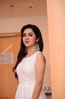 Ragini in Beautiful Cream Sleeveless Gown Perfect makeup ~  Exclusive 018.jpg