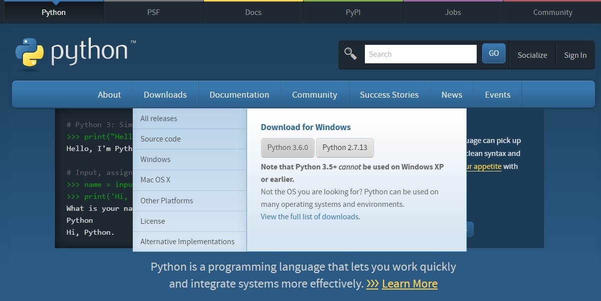 Onthim: Windows Install and use Python without admin rights