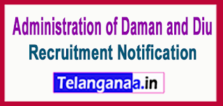 Administration of Daman and Diu Health Department Recruitment Notification 2017 Last Date 24-06-2017