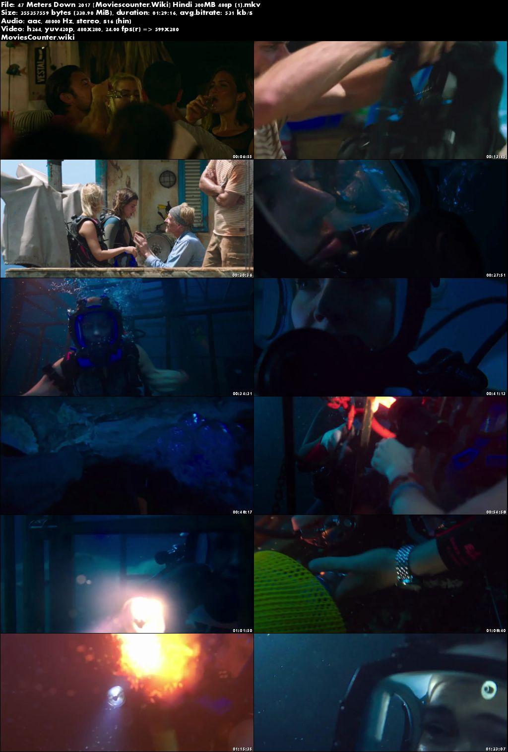 Screen Shots 47 Metres Down 2017 Dual Audio HD 300MB