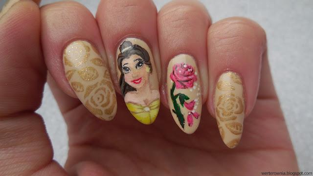 Paznokcie - Bella i róża