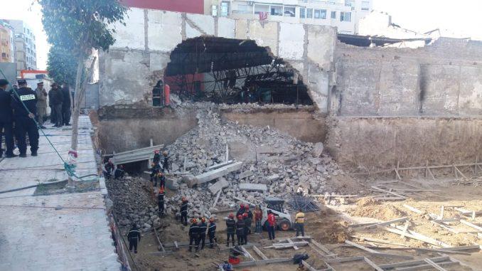 الوقاية المدنية تتمكن من استخراج أولى ضحايا انهيار جدار في ورش للبناء بالدار البيضاء