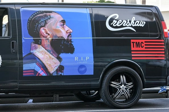 "Fans, Friends & Family Gather for Nipsey Hussle's ""Victory Lap"" Funeral Procession"