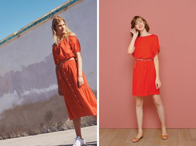Платья светлых оттенков красного