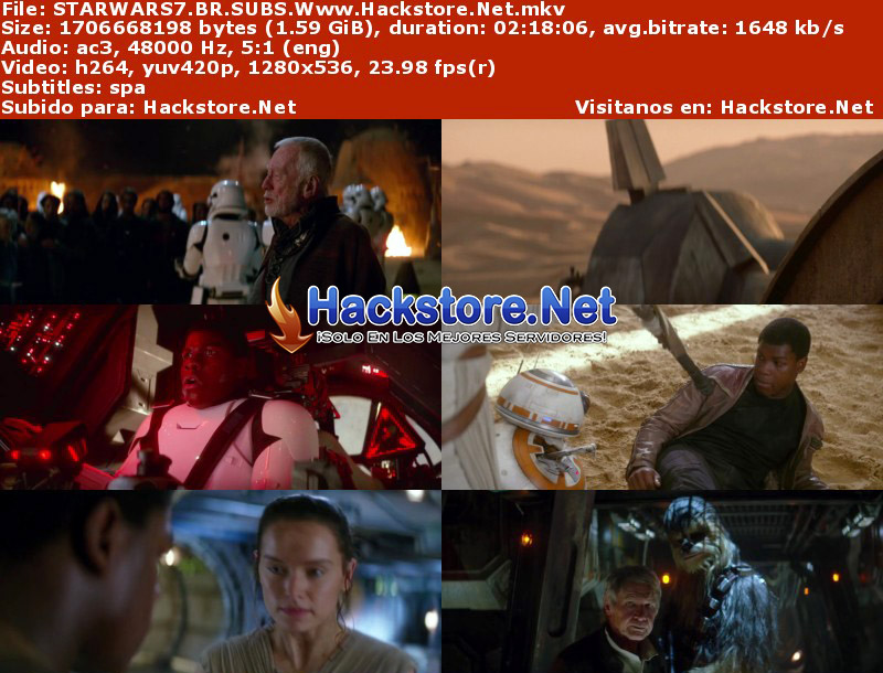 Capturas de Star Wars: Episodio VII – El despertar de la Fuerza (2016) Blu-Ray RIP HD Subtitulada