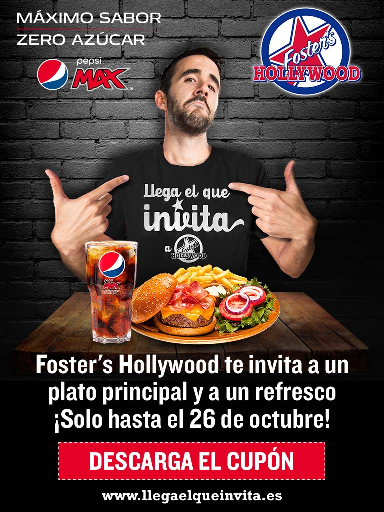 Me gusta ahorrar casi un 2x1 en fosters hollywood for Foster hollywood jardines