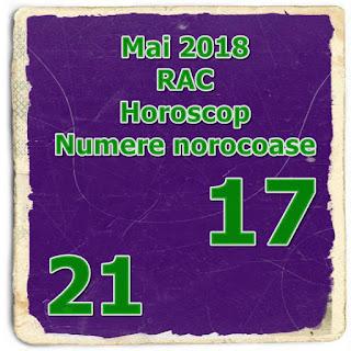 Mai 2018 RAC Horoscop Numere norocoase personale