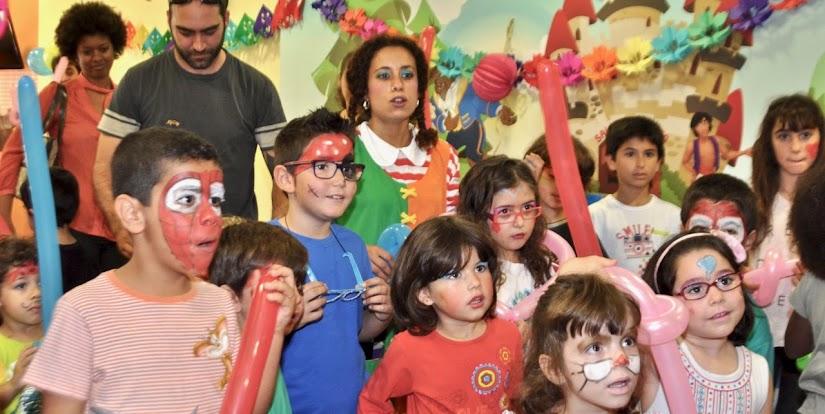 Animación infantil en una comunión a cubierto