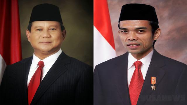 2 Syarat inilah yang Diajukan Ustaz Somad Mau Maju Dampingi Prabowo di Pilpres 2019