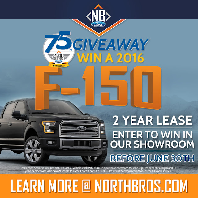 Enter to Win a 2016 Ford F-150 2-Year Lease!