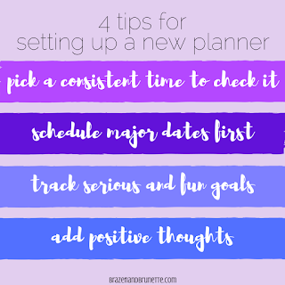 The 4 things I do to set up my new Plum Paper Planner. Plus, use my code for 10% off your next Plum Paper Planner!! | brazenandbrunette.com