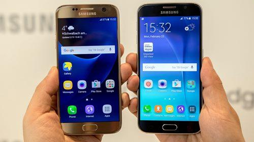 O Galaxy S6 e o Galaxy S7 tem um design muito semalhante
