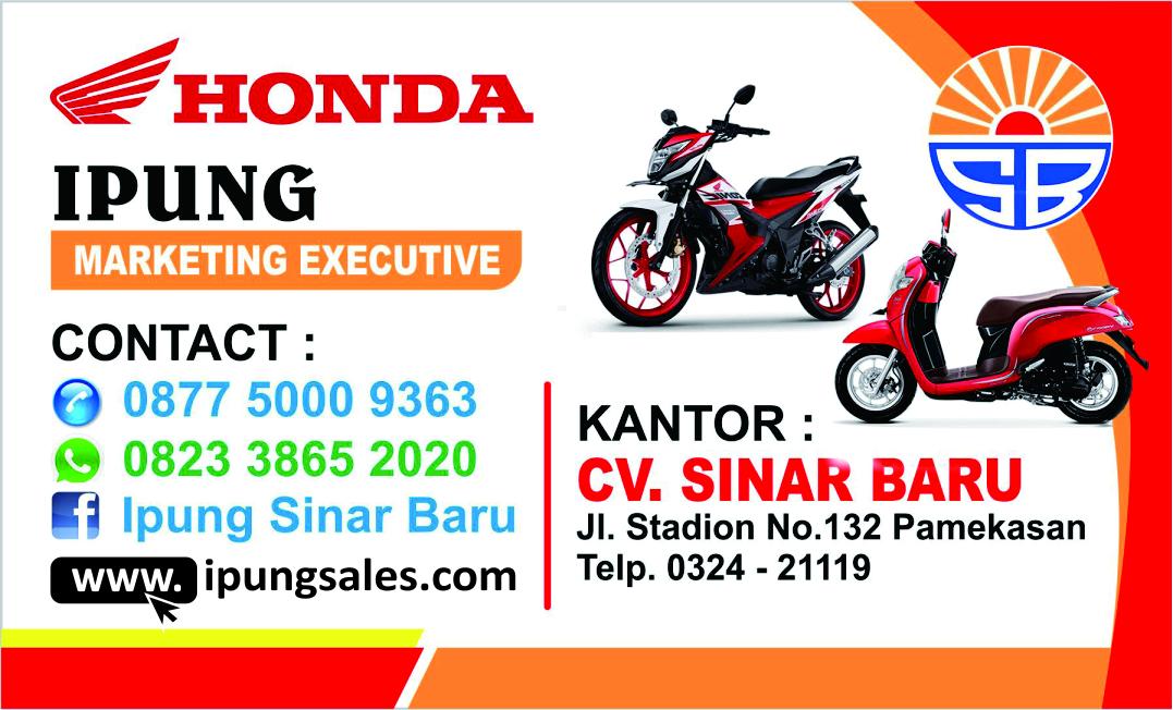 Brosur Kredit Motor Honda Pamekasan September 2018 - MAS IPUNG