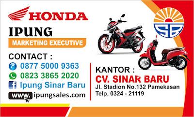 Brosur Kredit Motor Honda Pamekasan September 2018