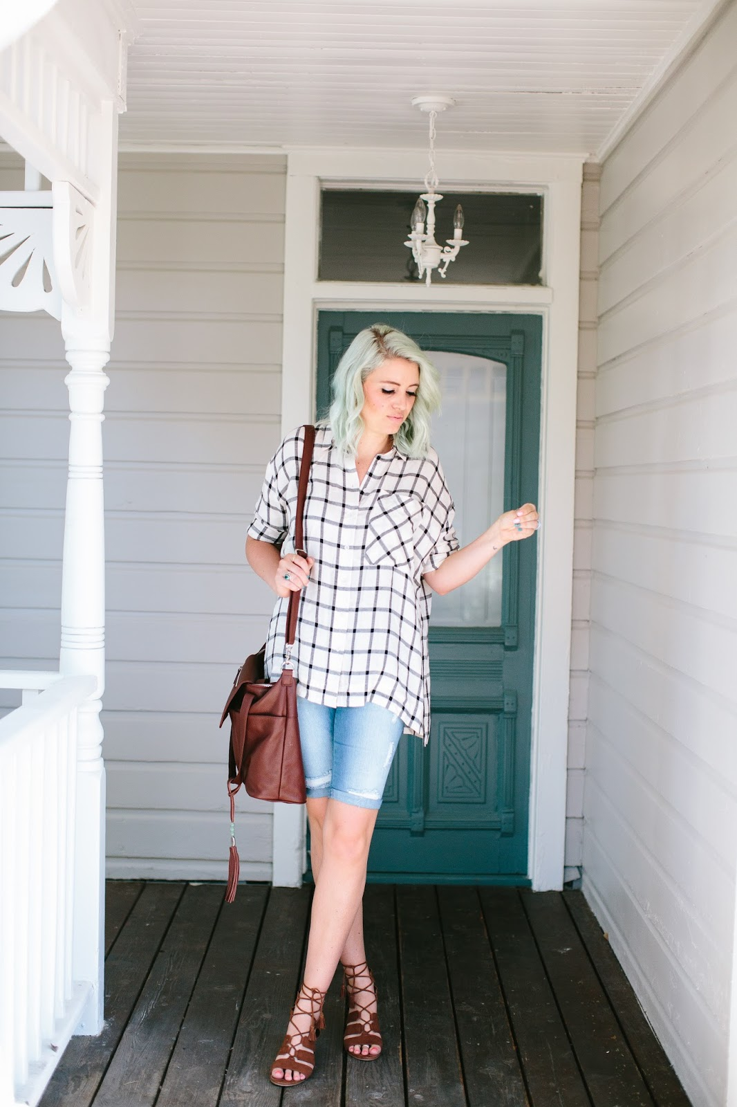Blue Hair, Utah Fashion Blogger, Summer Outfit Idea