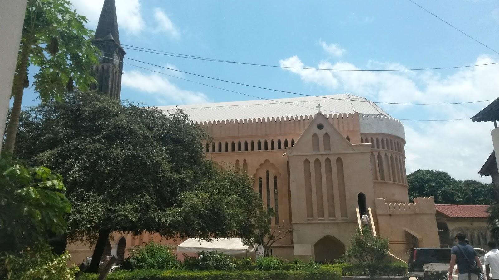 zanzibar stone town afrika slave market anglican church