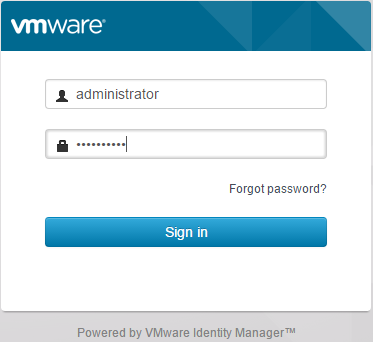 Vmware vrealize automation 7 configuration unlike prior versions of vrealize automation no domain vspherelocal domain suffix is required to login malvernweather Image collections