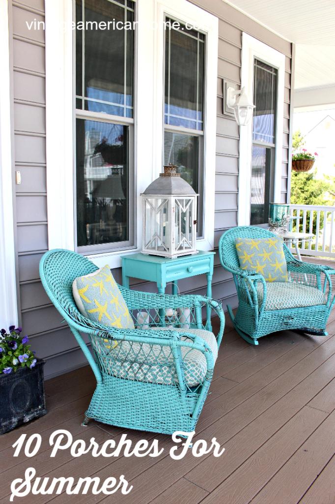 Spring Beach Home Front Porch Inspiration - 10 Ideas ... on Beach House Patio Ideas id=91445