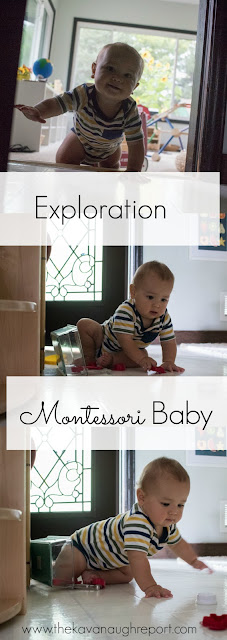 """The baby is next endowed with an urge, or need, to face the out world and to absorb it."" Maria Montessori"