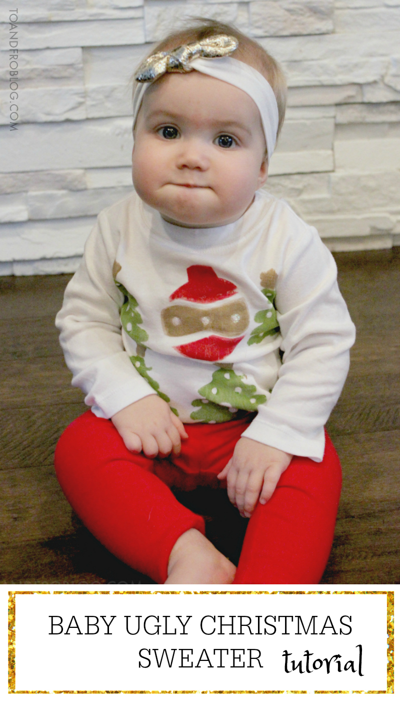 Baby Ugly Christmas Sweater Tutorial
