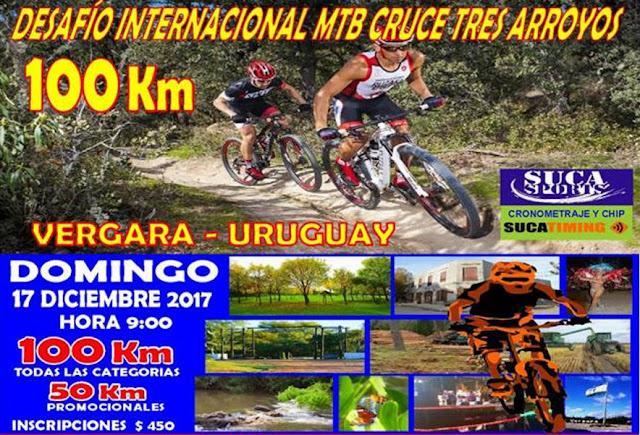 MTB - 100k Desafío Internacional Cruce Tres Arroyos en Vergara (Treinta y tres, 17/dic/2017)