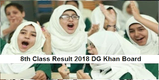 8th Class Result 2018 DG Khan Board PEC Announced Today - Check Online