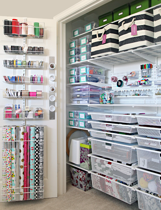 Iheart Organizing The Ultimate Craft Closet Organization