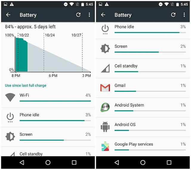 nexus 5 akhir hari dua baterai tertidur