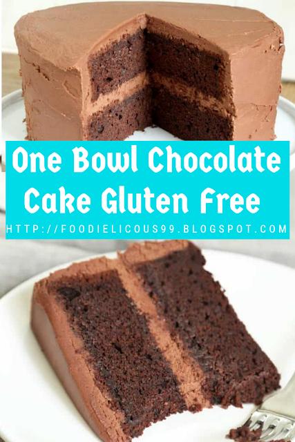 One Bowl Chocolate Cake Gluten Free